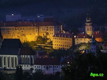 Zámek Český Krumlov v noci