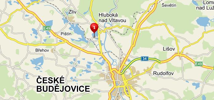 Zoo Hluboká nad Vltavou - mapa